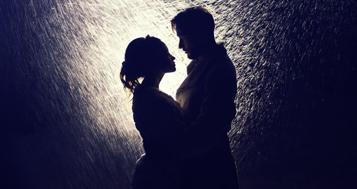 Passionate Couple In The Rain