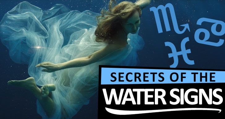 Secrets of the water zodiac signs