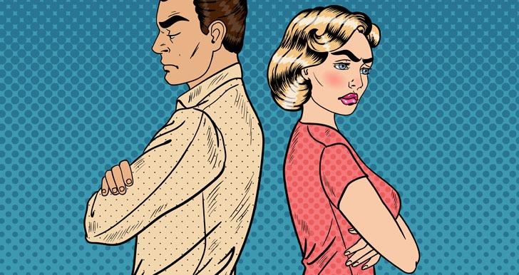 Sulking couple