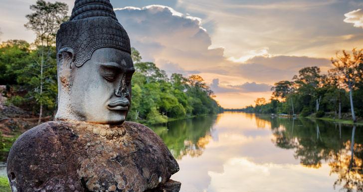 Cambodia headstone